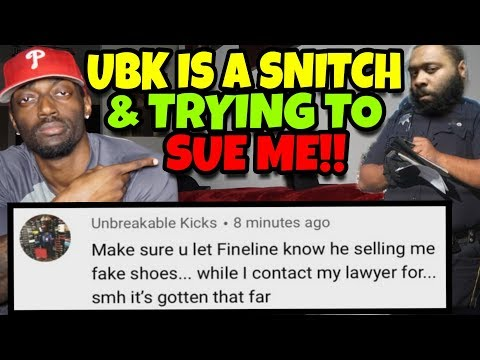 UnFakeablekicks Is Trying to Sue Me & He's Snitching On Fineline1721!!