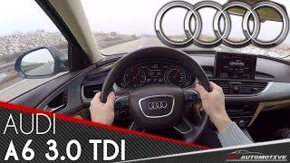 Audi A6 3.0 TDI POV Test Drive 270 km/h AUTOBAHN + 0 - 270 km/h (250 km/h GPS)