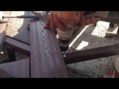 Монтаж террасной доски на крепеж Duet - YouTube