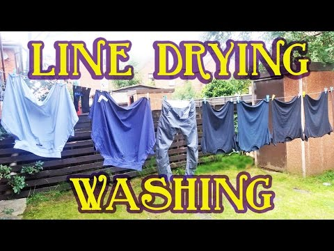 Line Drying Laundry Tips
