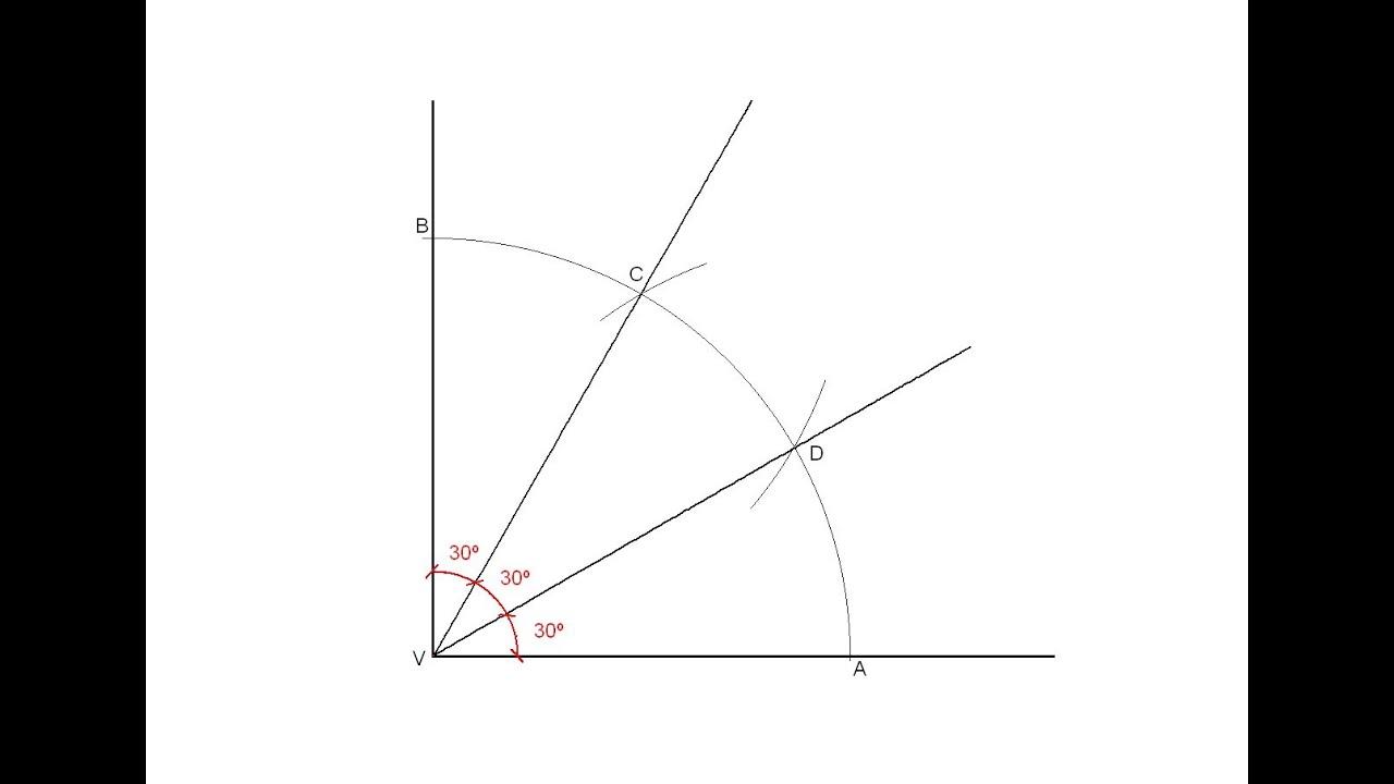 División De Un ángulo Recto En Tres ángulos Iguales Youtube