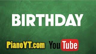Birthday - The Beatles Piano Tutorial - PianoYT.com
