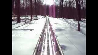 greek peak roller coaster from start to finish