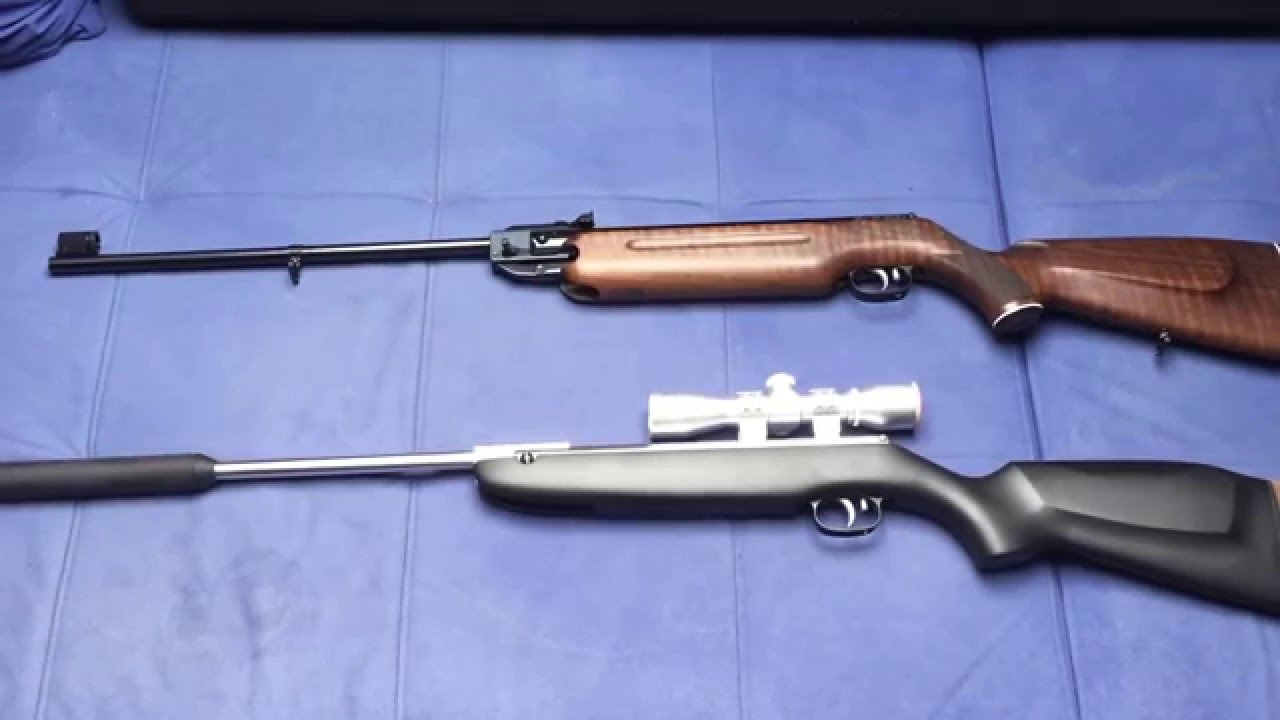 Luftgewehr hw vernickelt und mit schalldämpfer