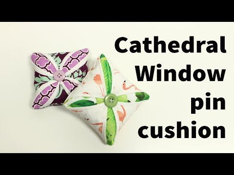 ✂️ Cathedral window 📌 pin 📌 cushion sewing tutorial