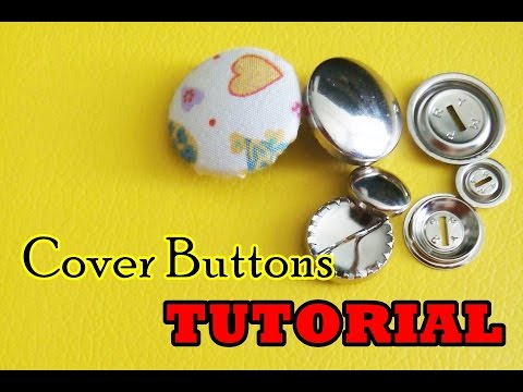 Craft Tutorial : Pasang Cover Button Tanpa Menggunakan Alat (How to Make Cover Buttons Without Tool)