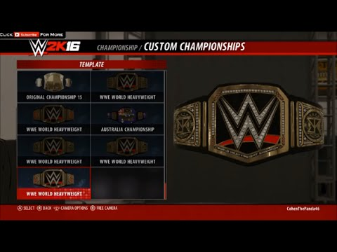 wwe 2k16 how to get seth rollins custom championship youtube