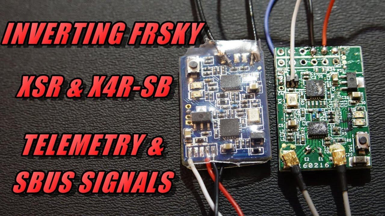 Un-inverting FrSky XSR & X4R-SB Telemetry & Sbus Signals