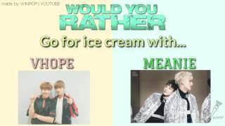 Baixar EXO VS BTS VS SEVENTEEN   WOULD YOU RATHER   KPOP GAME   WINPOP