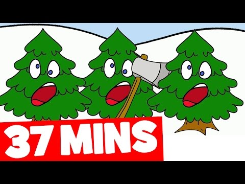 Three Christmas Trees Song and More | 37 mins Christmas Songs Collection for Kids