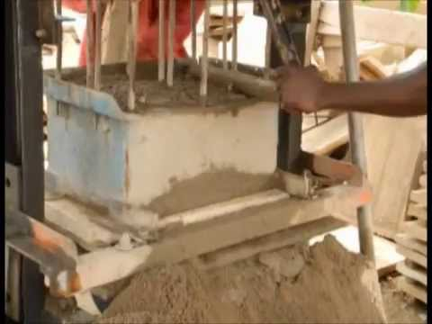 Block making for a living, Accra