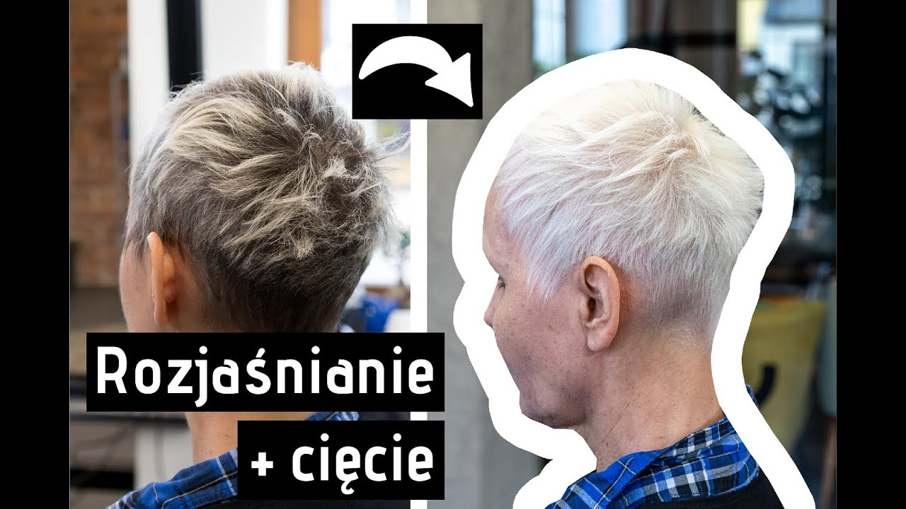 Biały Kolor Włosów Rozjaśnianie Strzyżenie Fengii Fundament Youtube