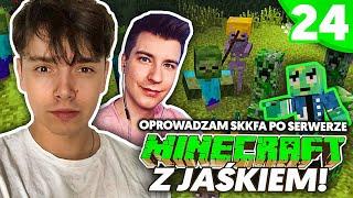 OPROWADZAM SKKFA PO SERWERZE - Minecraft z Jaśkiem #24 | JDABROWSKY