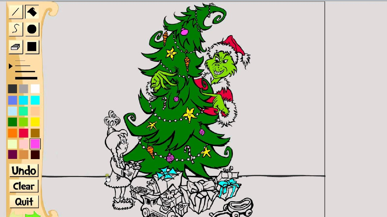 Coloring A How The Grinch Stole Christmas Picture