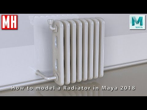 How to model a vintage RADIATOR for your 3D ENVIRONMENT scene