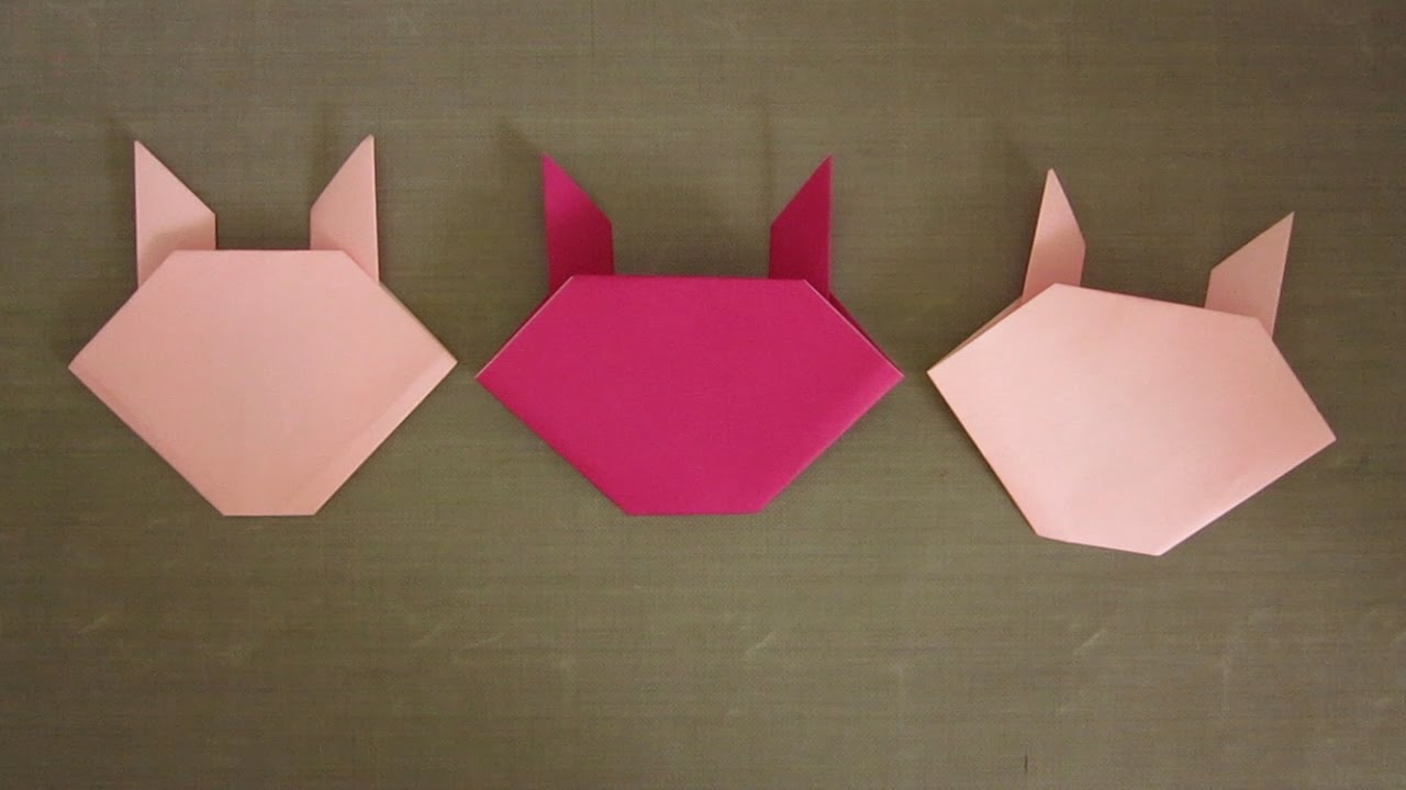 how to make an easy origami bunny youtube