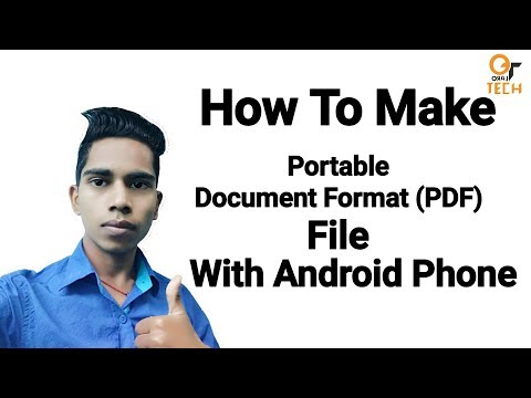 How to make portable Document format(PDF) file with android phone
