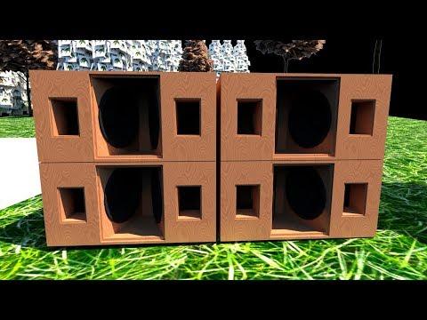"""[Box PLAN] 18"""" Horn Reflex Cabinet Subwoofer"""