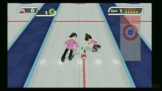Deca Sports Nintendo Wii Gameplay - Curling