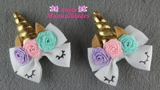 Par de Mini Moños Unicornio | Anita Manualidades