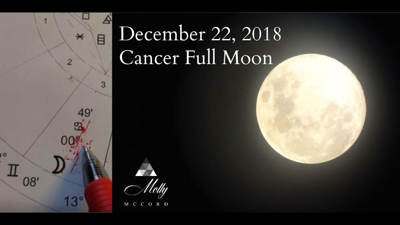 Dec 22 Cancer ♋ Full Moon - Trusting, Listening, Growing
