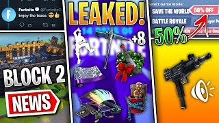 Fortnite News | UZI Soon, All 14 Free Rewards Leaked, Epic Mess up, New POI, STW 50%, Fixes & More!