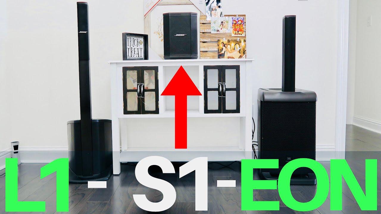 Bose S1 Pro Vs Bose L1 Compact Vs JBL EON ONE - Audio Sound Test Demo -  Speaker Battle