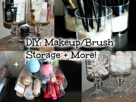 diy makeup/brush organizer  youtube