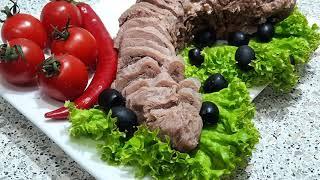 Вкусный сочный говяжий язык в мультиварке для мясной нарезки заливного салатов и бутербродов