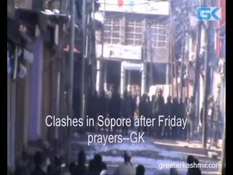 Clashes in Sopore after Friday prayers