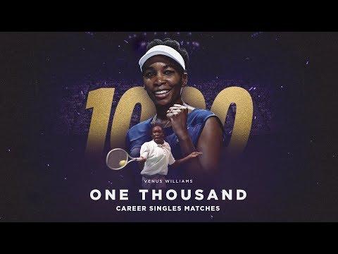 1000 Career Singles Matches for Venus Williams