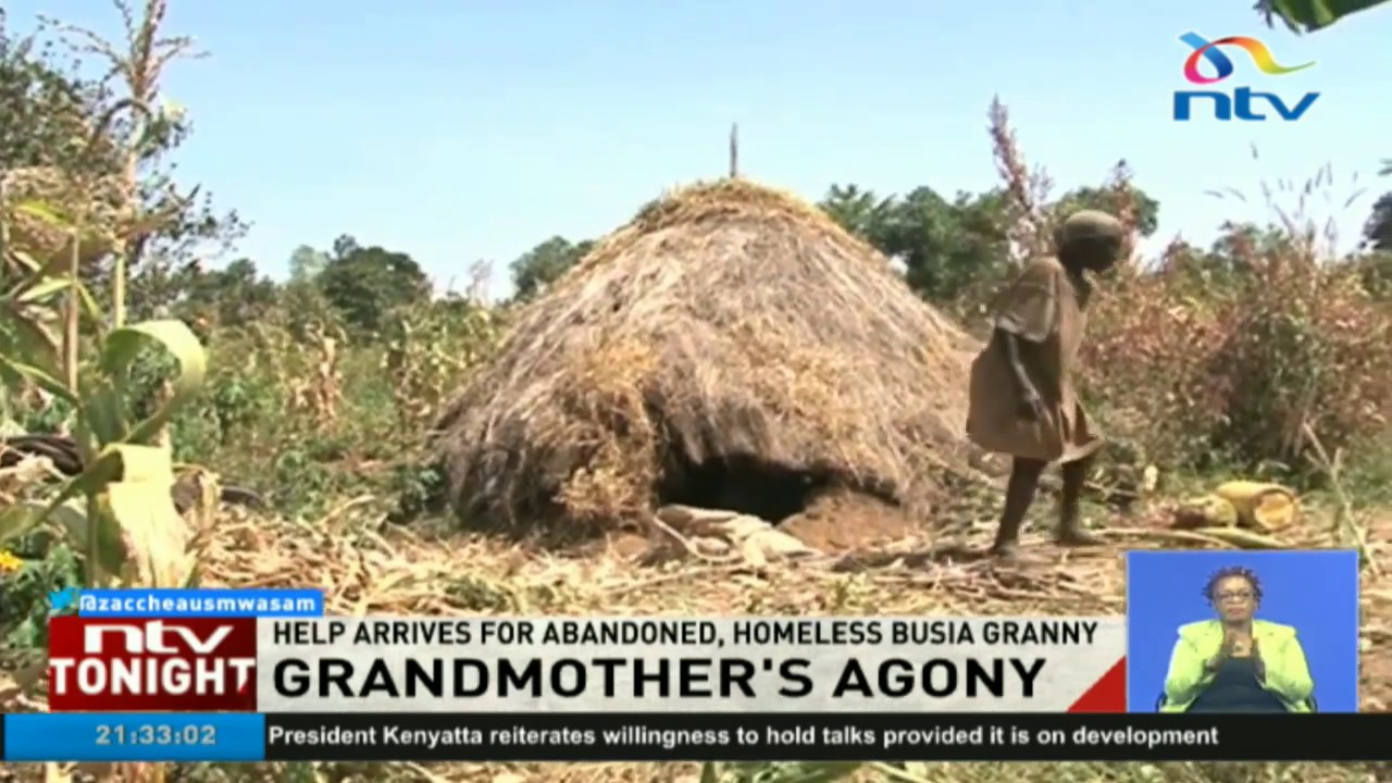 Help arrives for 78 year old abandoned, homeless Busia granny
