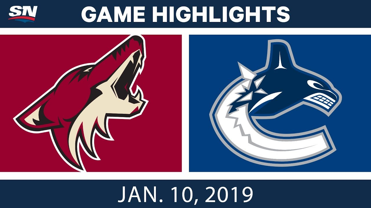 NHL Highlights | Coyotes vs. Canucks - Jan. 10, 2019