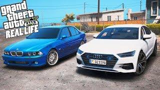 ГТА 5 Реальная Жизнь Друзей №4 КУПИЛИ AUDI A7 И BMW M5 E39