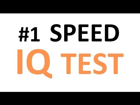 Speed IQ Test: Think fast!!!