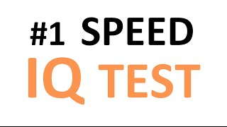 speed iq test think fast