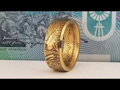 Making a half oz Gold Eagle ring and Complete Coin Ring Tool Giveaway
