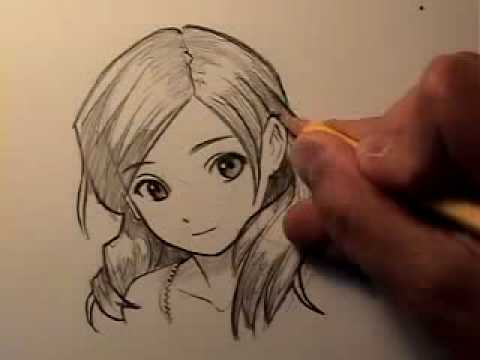 draw manga hair four