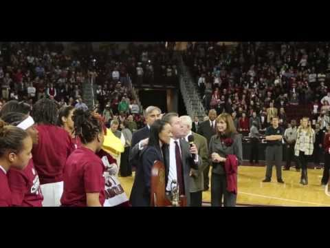 2014 SEC Champions: SC Gamecocks ~ Trophy presentation by Com. Mike Slive