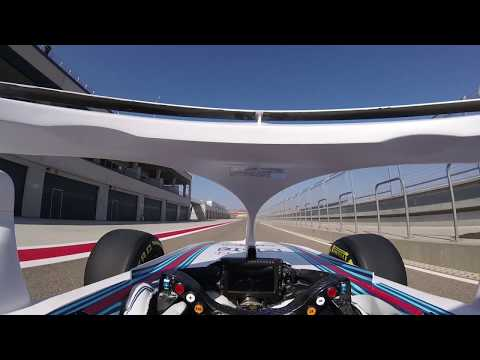 Williams Martini Racing: Robert Kubica's first laps with the Halo