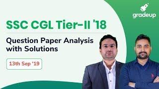 Ssc Cgl Tier Ii Question Paper Analysis 13 Sept: Ssc Cgl Tier 2 Question Paper W