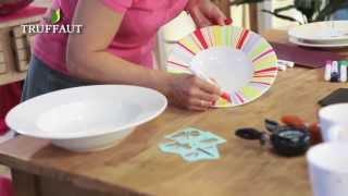 Peinture Sur Porcelaine Verre Et Ceramique Sans Cuisson Jardinerie Truffaut Tv Youtube
