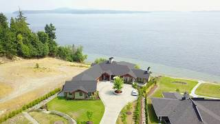 Aerial Real Estate -Drone Footage of a Custom Home in Mill bay