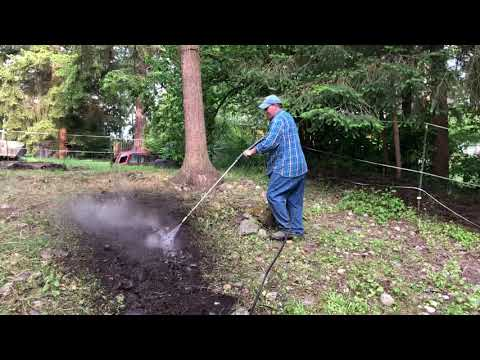 Hydrotilling Removing Weeds BlackBerries Stinging Nettle's In A Horse Arena Getting Ready For Garden