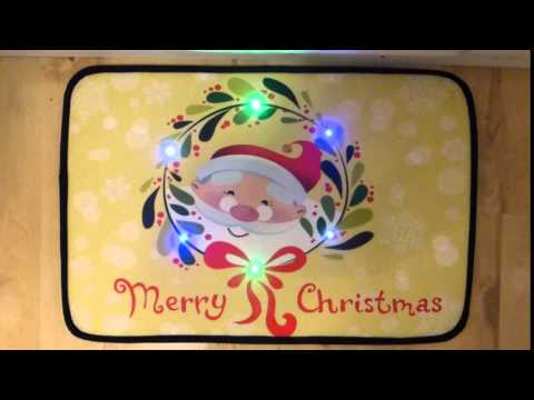 Merry Christmas Musical Christmas Door Mat With LED Lights