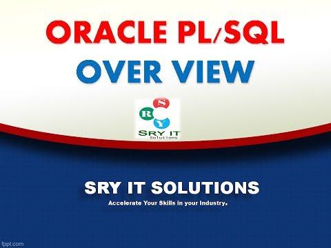ORACLE PLSQL ONLINE TRAINING | ORACLE PLSQL TRAINING | PLSQL TRAINING VIDEO | PLSQL PROJECT SUPPORT