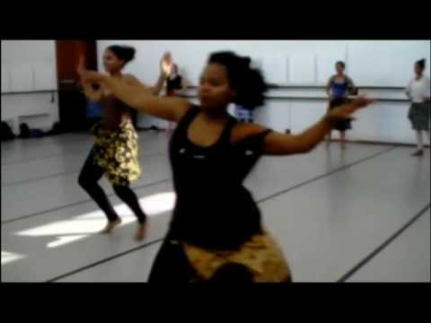 African Dance Class 2nd years 2016