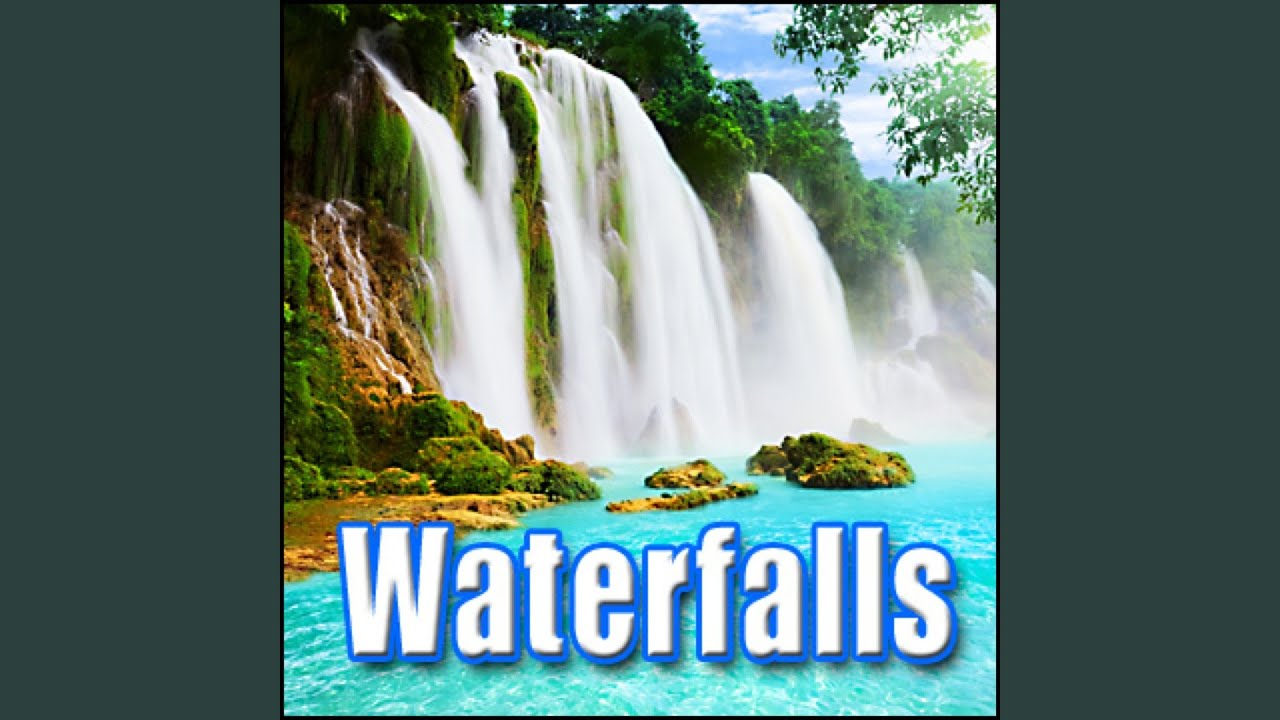 water fall small waterfall flowing with heavy bubbling and