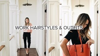 My Go-To Workday Hairstyles & Outfits | ttsandra