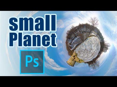 Фото в стиле Small Planet Как сделать маленькую планету в фотошоп обучение.